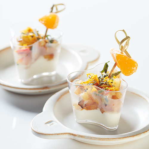 Frozen yoghurt med clementin vinteräpple