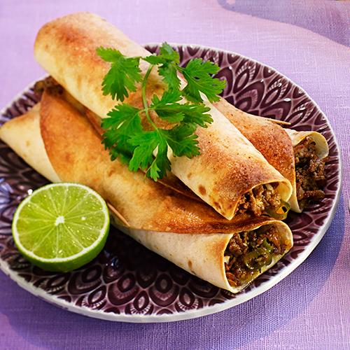 Kryddiga Taquitos