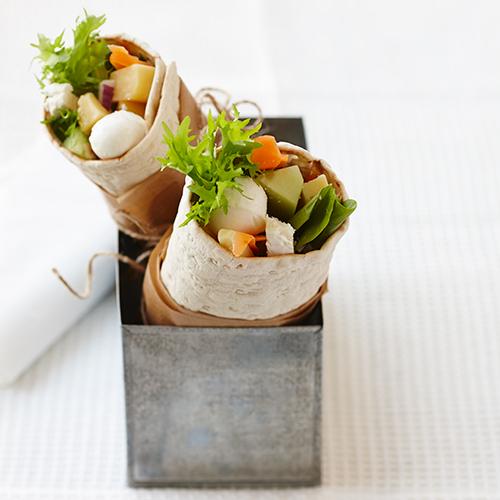 Wrap med fyra sorters ost