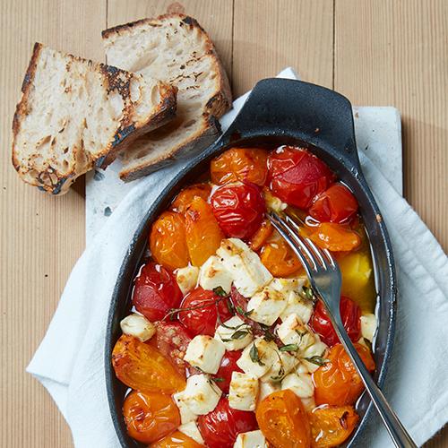 Bakade tomater med Santorina