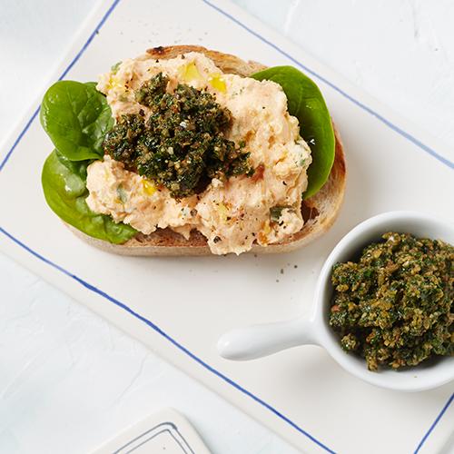 Sötpotatisspread med grönkålspesto
