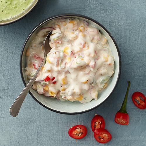 Cheesedip med majs och chili