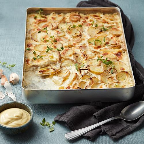 Potatisgratäng med Dijon