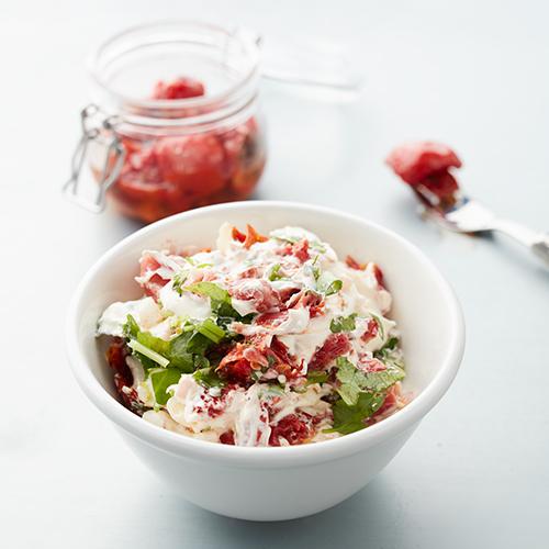 Tomat- och serranocrème