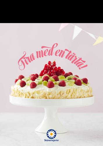 Skånemejerier Fira med tårta